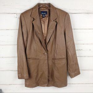 Denim & Co. boyfriend Leather Blazer Jacket